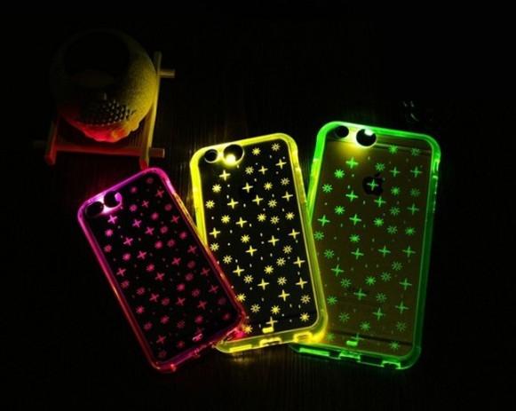 現貨來電閃光閃殼蘋果iphone6s plus 5s se手機殼創意透明矽膠套保護套手機套邊框