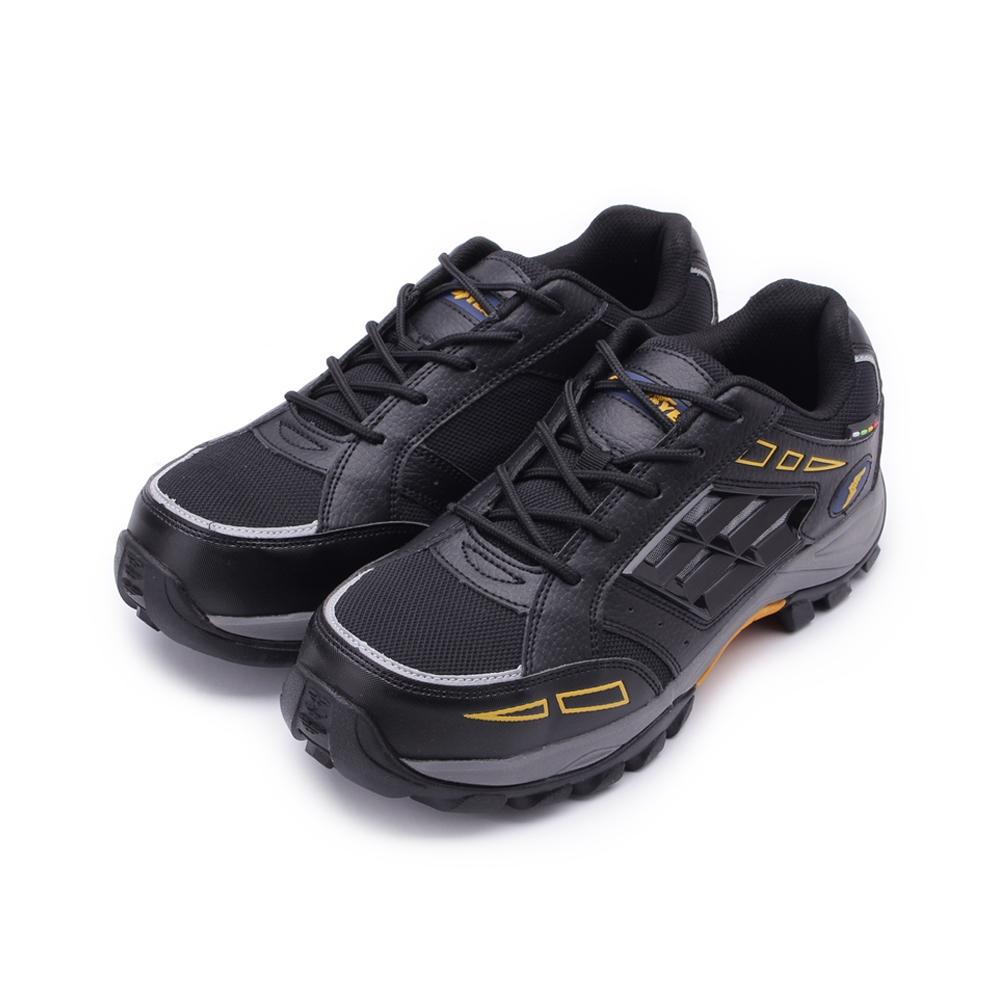 GOODYEAR 風暴透氣綁帶鋼頭鞋 黑 GAMX83920 男鞋 鞋全家福