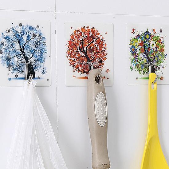✭米菈生活館✭【H51】無痕強力掛鉤(四入) 廚房 衛浴 懸掛 黏貼 壁掛 裝飾 收納 門背 櫥櫃 免釘