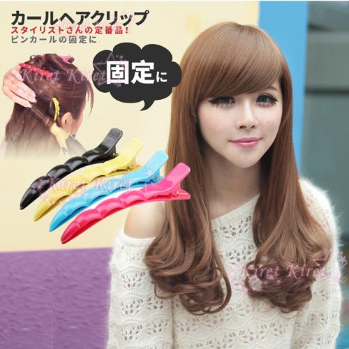 Kiret髮夾夾髮器美髮造型彩色分區夾10入