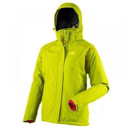 山水網路商城法國MILLET MIV5062 STORM DOWN GORE-TEX兩件式保暖外套內裡羽絨女檸檬綠