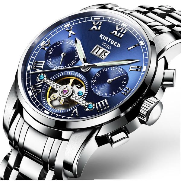 思美 KINYUED瑞士正品高檔藍光陀飛輪機械男錶