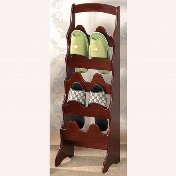 中華批發網D:HD-610100-拱形10入實木鞋插架/鞋櫃/鞋架/鞋櫥/拖鞋架