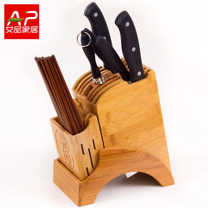楠竹刀架廚房用品菜刀架刀座收納刀具架子