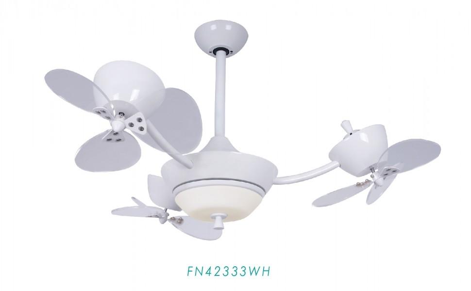 【燈王】《美國專利DC吊扇AiFan》直流變頻省電 自然風 三轉子 42吋吊扇 LED吊扇燈 遙控器☆FN42333WH
