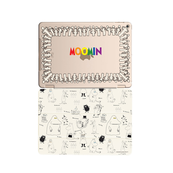 Moomin嚕嚕米正版授權 【溜溜們(白)】:《 iPad Mini系列 》水晶殼+Smart Cover(磁桿)