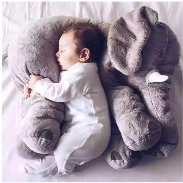 Love Shop大象嬰兒抱枕安撫枕大象抱枕新生兒抱枕新生兒玩具大象娃娃靠枕腰枕靠墊枕墊