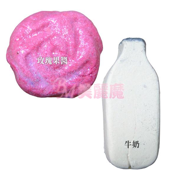 【美麗魔】英國 Lush Bubble Bars 玫瑰果醬/牛奶 泡泡浴芭 浴球