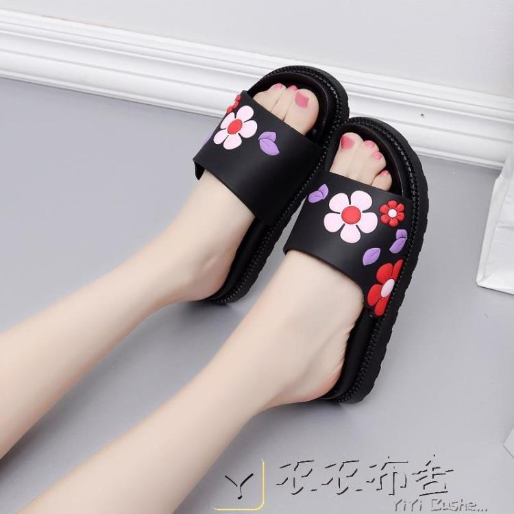浴室拖鞋可愛夏季女款加高中坡跟 「衣衣布舍」