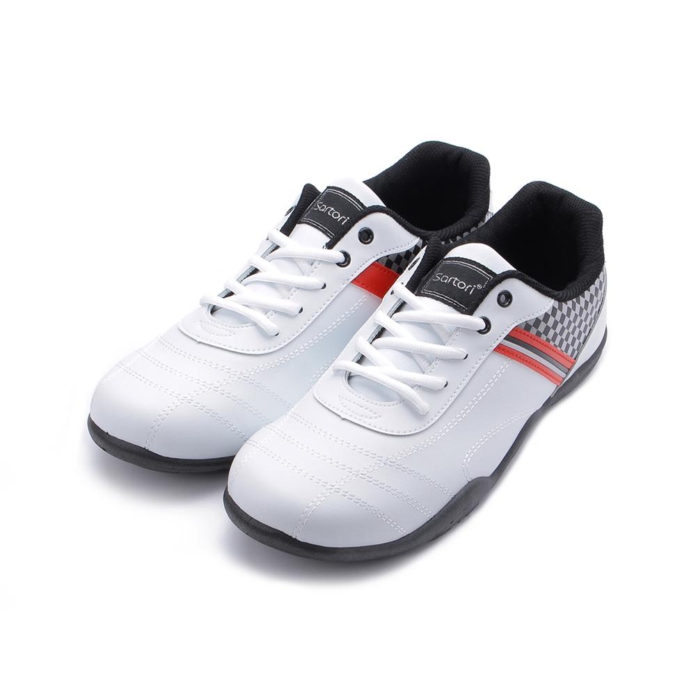 SARTORI 復古賽車鞋 白 男鞋 鞋全家福
