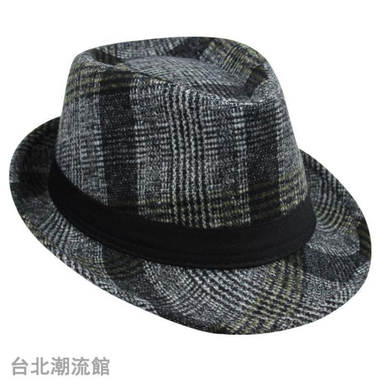 秋冬季時尚紳士帽爵士帽韓版潮男女英倫復古禮帽舞臺帽老人禮帽