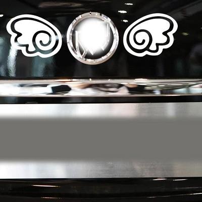 A0160天使翅膀車身貼紙車窗貼AUDI VW FORD BMW BENZ TOYOTA三菱SUBARU