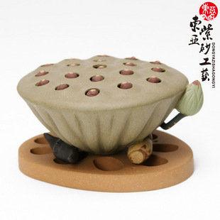 精品茶具茶寵蓮蓬蓋托蓮子可搖動