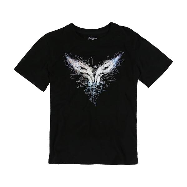 FW閃電狼線風款T恤復刻中性版短袖純棉黑色台灣製