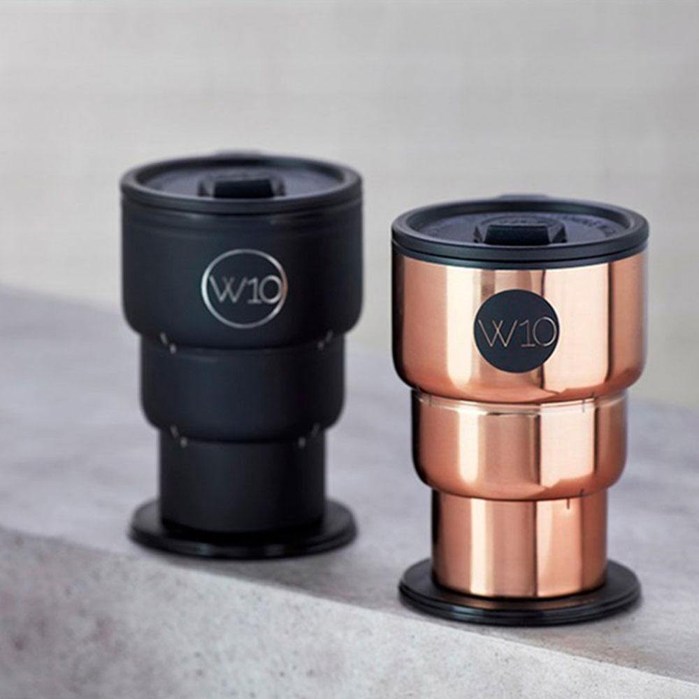 英國JOGROUP W10專利雙層不鏽鋼保溫折疊杯- 共2色