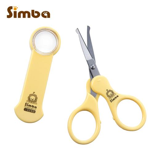 小獅王辛巴Simba放大鏡安全剪刀曲面