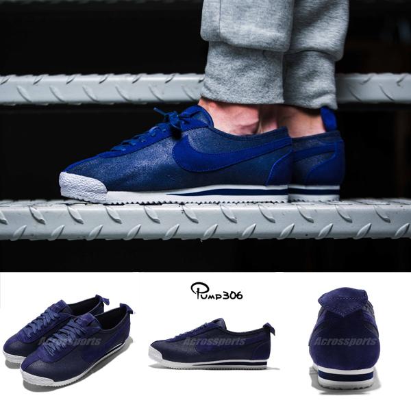 六折特賣Nike休閒鞋Cortez 72藍白深藍阿甘鞋經典復古限量男鞋PUMP306 863173-400