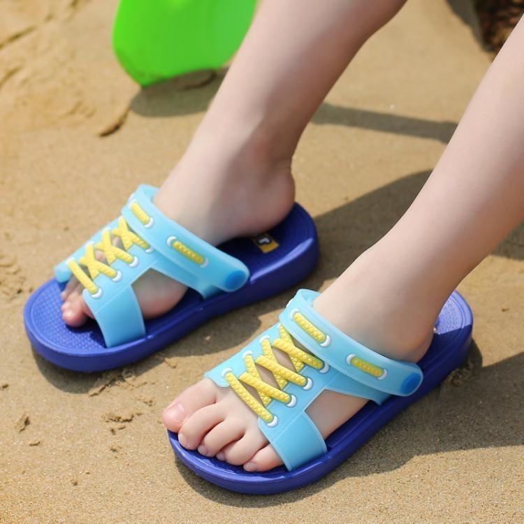 兒童拖鞋夏季男童拖鞋寶寶兒童洞洞鞋ღ部落男裝ღ