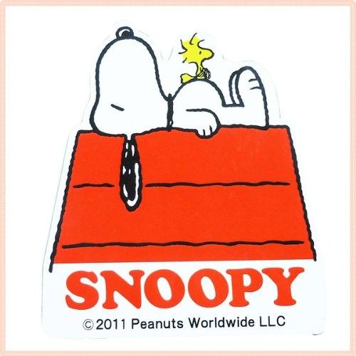 史努比SNOOPY車用磁鐵裝飾貼紙SN紅屋磁鐵