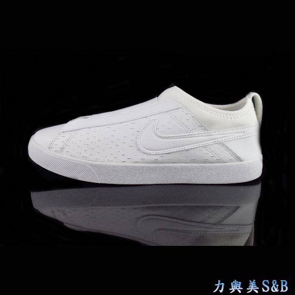 懶人鞋NIKE女休閒運動鞋簡單設計百搭款包覆性佳全白色鞋面學生鞋902861100