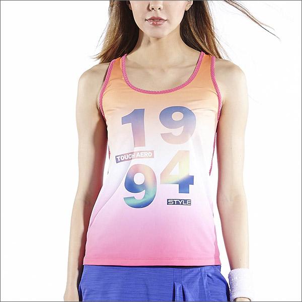 94數位漸層TA603分M L尺寸商品圖不含內搭-百貨專櫃品牌TOUCH AERO瑜珈服有氧服韻律服