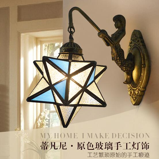 蒂凡尼床頭燈壁燈復古創意壁燈TW元氣少女