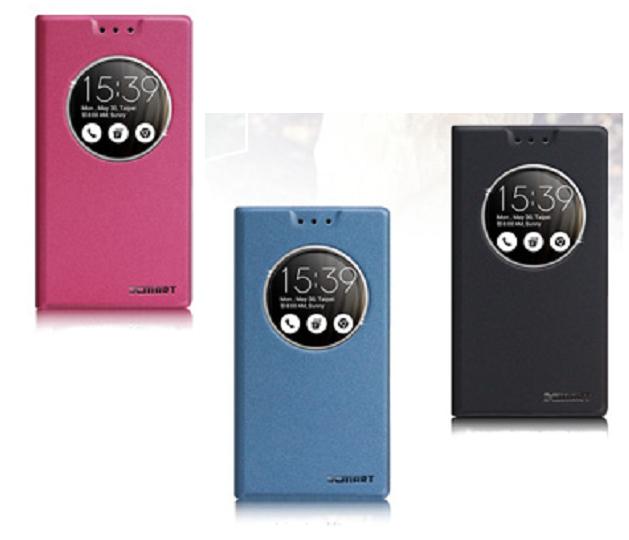 華碩ASUS ZenFone 3 ZE520KL Z017DA 5.2吋磨砂圓視窗感應側掀站立皮套保護套矽膠套殼手機殼
