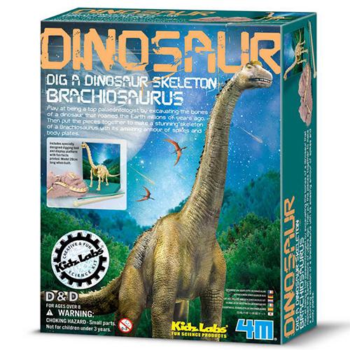 4M挖掘考古挖掘腕龍Dig a Dino Branchosaurus JOYBUS玩具百貨