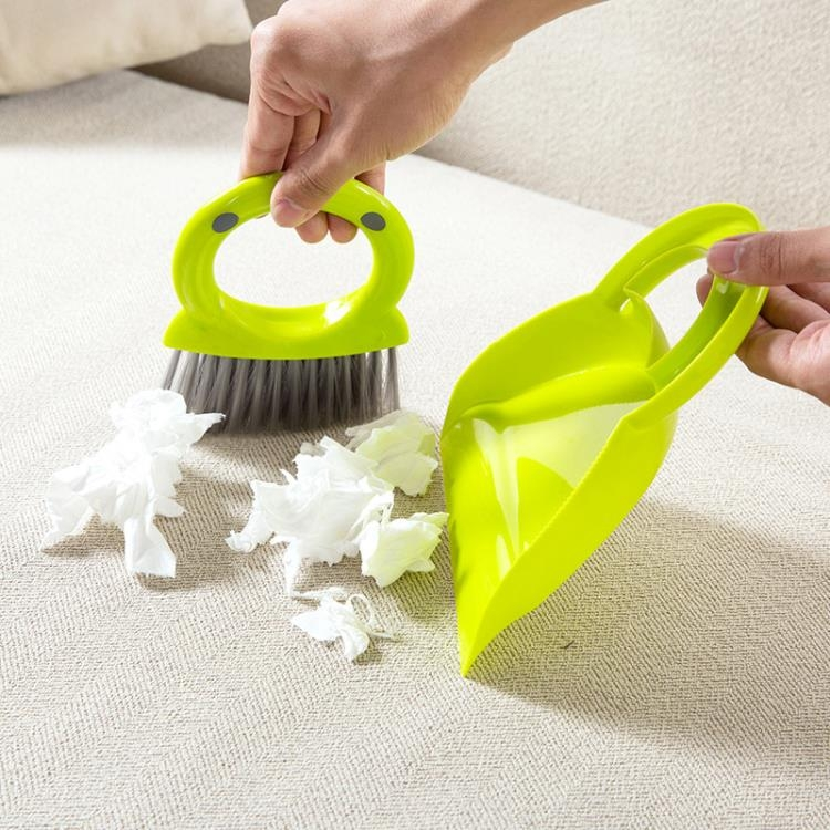 [超豐國際]迷你桌面打掃清潔刷簸箕組合套裝 桌子小型除塵掃把小掃