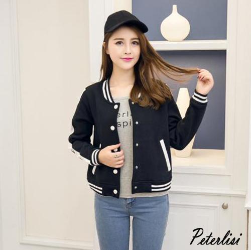 韓版休閒棒球夾克外套6005D彼得麗絲