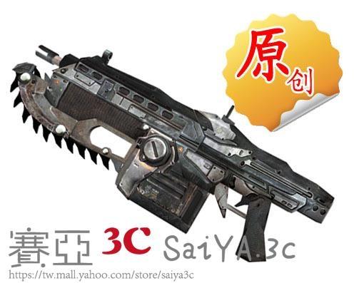鏈鋸槍3D紙模型立體拼圖