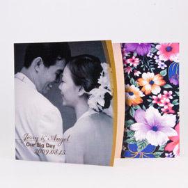 相片喜帖花好月圓系列Ⅲ-金編號p001-c特色喜帖創意婚卡婚紗喜帖精緻婚卡幸福朵朵