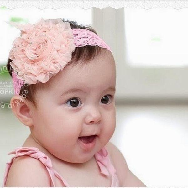 童裝CUCU芯衣草~大花朵蕾絲髮帶3色