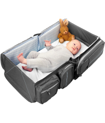 比利時寶寶行動眠床-個性灰Deltababy Carry Cot Travel Bag外出床
