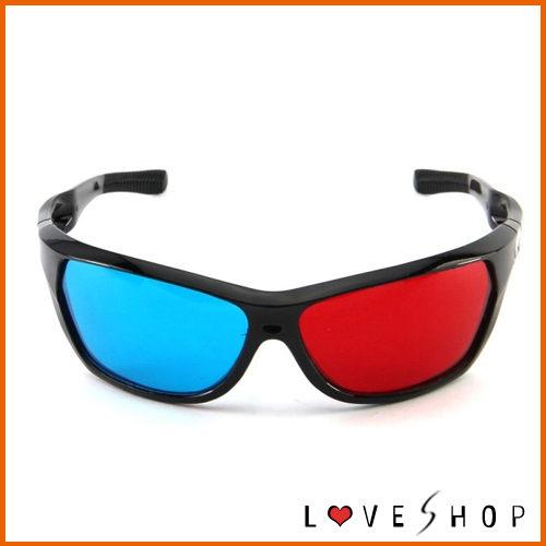 Love Shop 3D眼鏡電視電腦專用3D立體眼鏡紅藍3D眼鏡紅藍眼鏡平板電腦適用