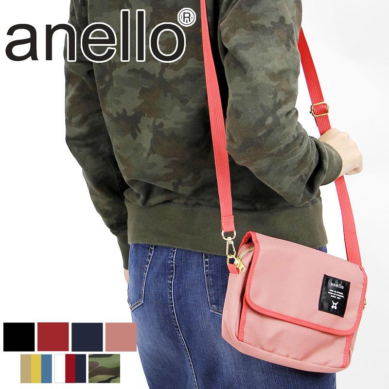 日本人氣商品 Anello高密度尼龍側背包(迷彩、深藍)