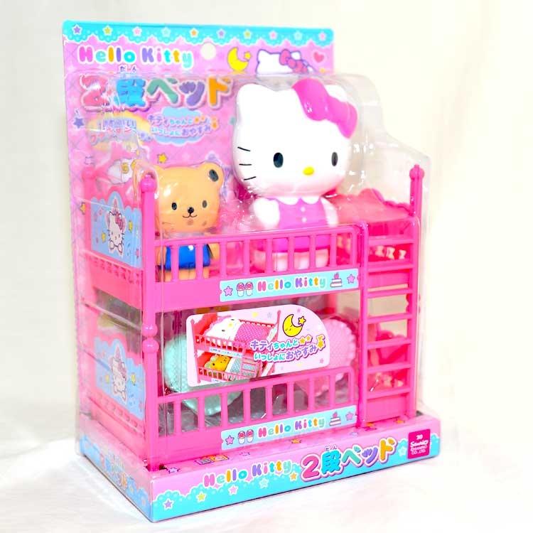 Hello Kitty粉紅臥房的上下舖家家酒玩具日本帶回正版