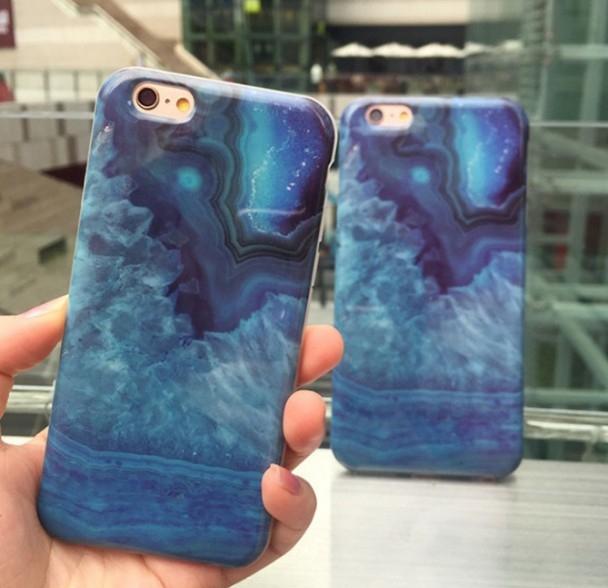 現貨蘋果iphone 6 6s plus韓國文藝雲石石紋手機殼手機套大理石全包軟殼