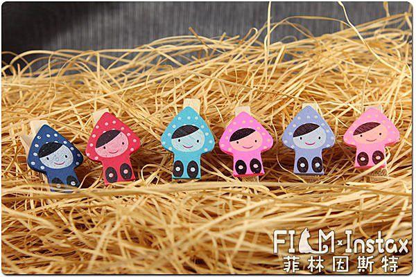 菲林因斯特原木夾小精靈木夾女孩6入拍立得底片裝飾用婚禮佈置