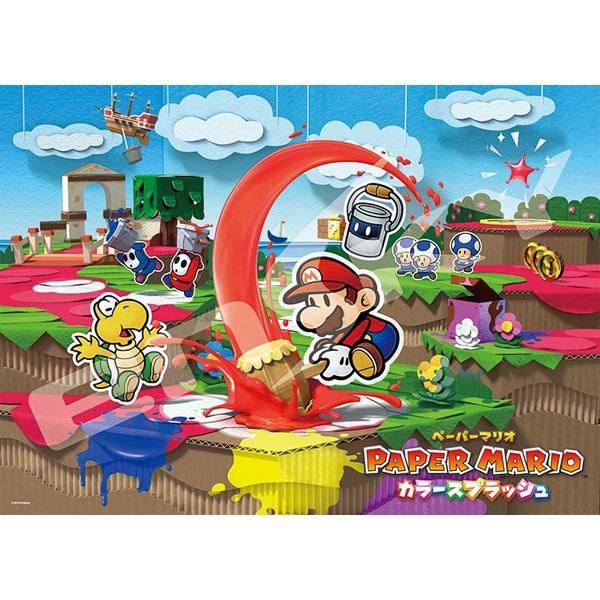 日本進口拼圖大片大切塊拼圖馬利歐Paper Mario紙片瑪利歐300片ES300-L524