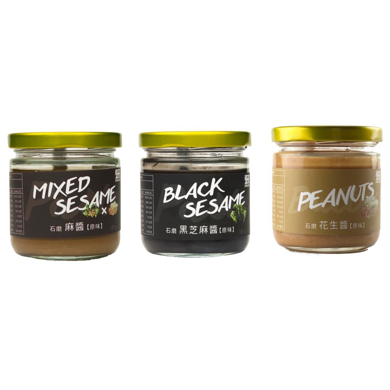 【東和製油】麻醬(無糖)1入 石磨黑芝麻醬(無糖)1入組 花生醬(無糖)1入