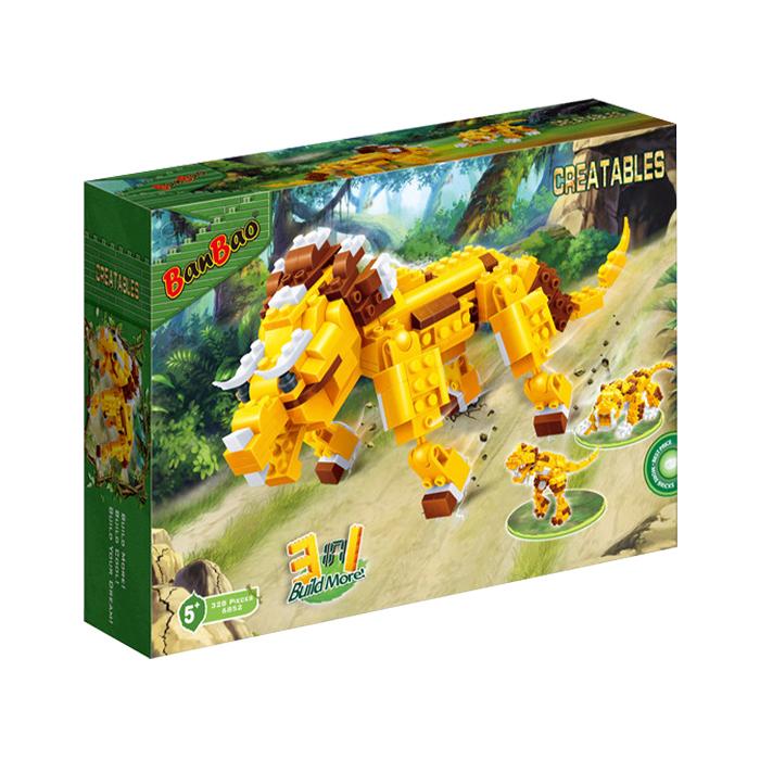 三合一系列 NO.6852變形三角龍 3合1 恐龍(與樂高Lego相容)【BanBao邦寶積木楚崴】