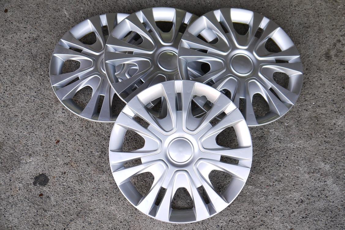 銀色款改裝亮面款仿鋁圈樣式通用型汽車13吋14吋專用輪圈蓋鐵圈蓋4片入無LOGO字樣