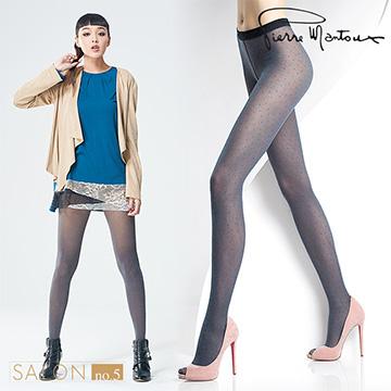 {8折} ★女人我最大推薦★皮爾曼都Pierre Mantoux 時尚小圓波點褲襪 / 義大利精品襪