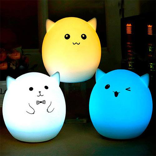 【Love Shop】紳士豬精靈 拍拍小夜燈  充電式聲控餵奶燈 創意送女友生日閨蜜禮物/小夜燈