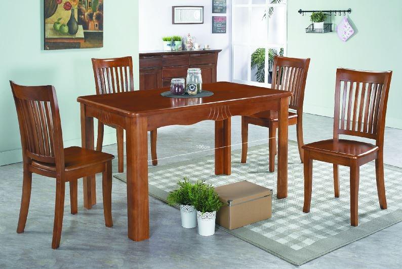 南洋風休閒傢俱餐桌椅-蘇比樂70公分實木圓餐桌咖啡皮椅凳1桌4椅餐桌椅JH962-3 978-9