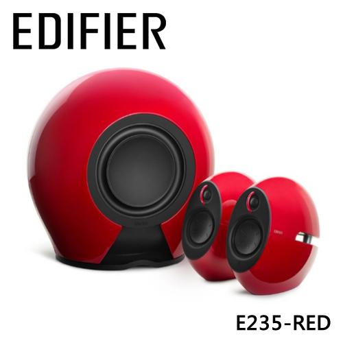 ★登錄送延長保固六個月★ Edifier Luna Eclipse E235 2.1聲道藍牙喇叭 - 紅色
