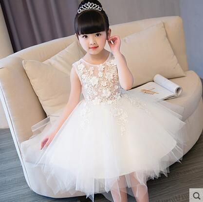 兒童禮服公主裙女童婚紗裙鋼琴演出服蓬蓬裙生日花童禮服晚禮服夏