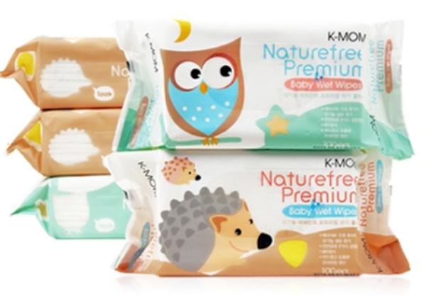 K-MOM 有機自然濕紙巾-柔花款(100抽)花色隨機出貨