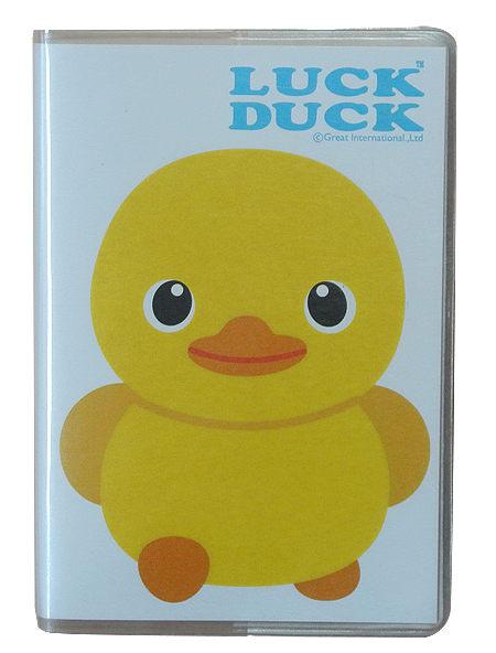 【卡樂購】Luck Duck 膠套彩色筆記本-B款